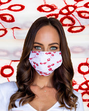 Load image into Gallery viewer, Red Eyelet Face Mask
