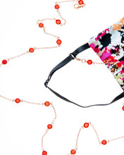 Load image into Gallery viewer, Red Round Crystals Mask Necklace