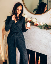 Load image into Gallery viewer, faux wrap loungewear jumpsuit