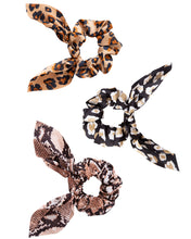 Load image into Gallery viewer, Animal Print Scrunchies 3-Pack