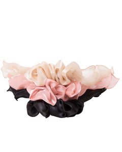 Neutral Scarf Scrunchies 3-Pack