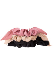 Load image into Gallery viewer, Neutral Bow Scrunchies 3-Pack
