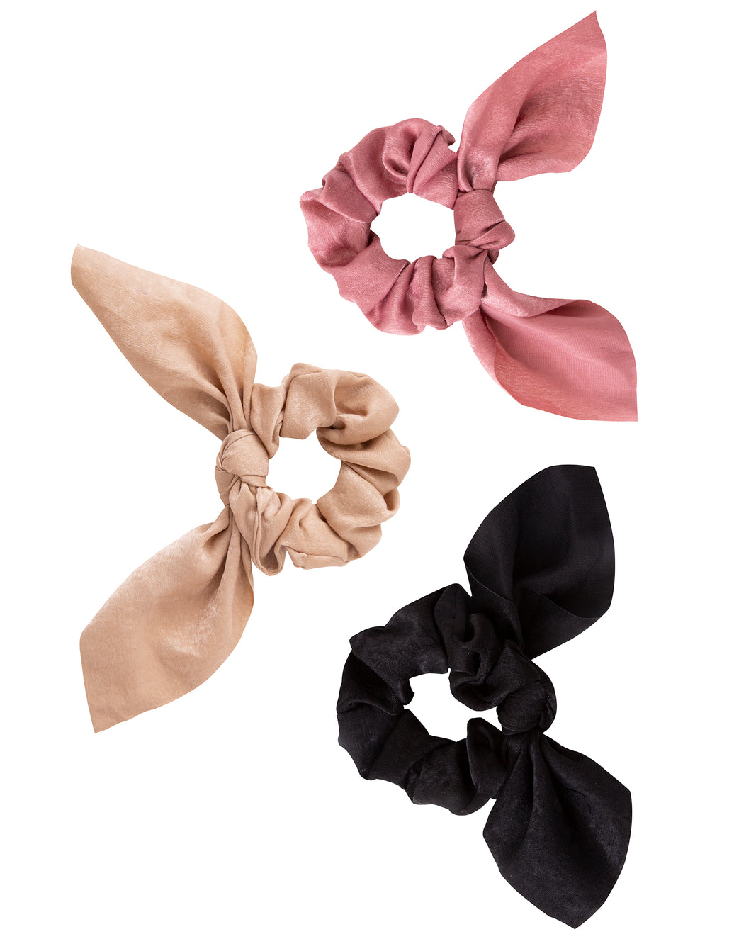 Neutral Bow Scrunchies 3-Pack
