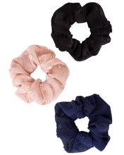 Load image into Gallery viewer, Swiss Dot Scrunchies 3-Pack
