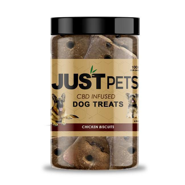 JUSTCBD DOGS CHICKEN BISCUITS 100MG