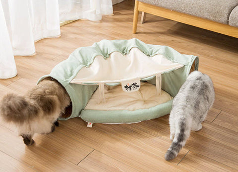 cat bed tunnel soft