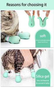 Cat Bath Paw Protector Adjustable Anti-Scratch Boots