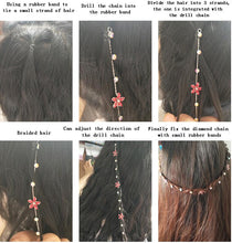 Load image into Gallery viewer, Hair Rhinestone Tool Glitter Braid Bridal Wedding Hair Accessories