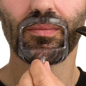 Men Mustache Shaper Stencil Styling Template Goatee Beard Guide 5 Pcs