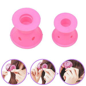 Soft Hair Care Rollers Curler Rubber 10pcs