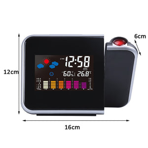 Projection Alarm Clock With Weather Station Temperature