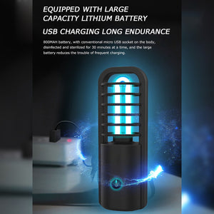Portable UV Lamp With Rechargeable Battery - Ultraviolet UVC Germ Killing Light with Antibacterial Action