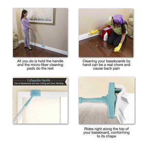 New Adjustable Baseboard Molding Cleaner With Long Handle