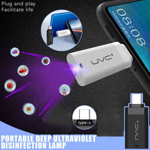 Mini Portable Cell Phone UV Deep Disinfection Lamp 5V UVC Sterilization Light