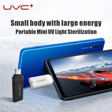 Load image into Gallery viewer, Mini Portable Cell Phone UV Deep Disinfection Lamp 5V UVC Sterilization Light