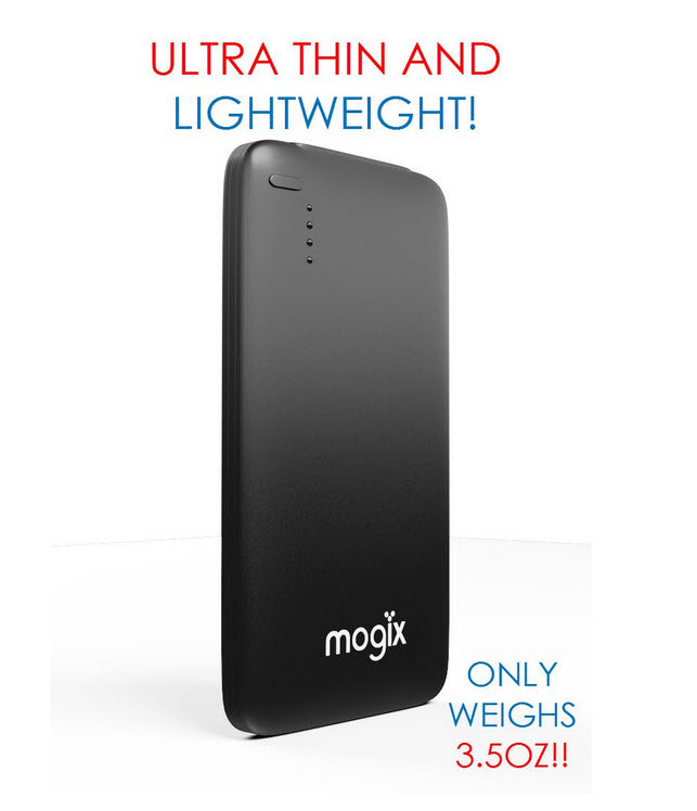 Mogix Universal Portable Charger 5000mAh Slim Power Pack (Black)