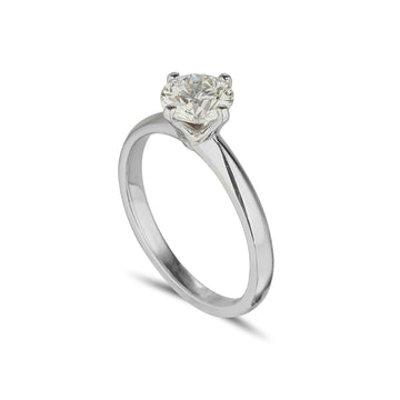 Solitaire ring 4 claw with 1.02 carat round brilliant Diamond
