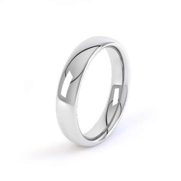 18ct white gold 2.5mm court shaped wedding ring