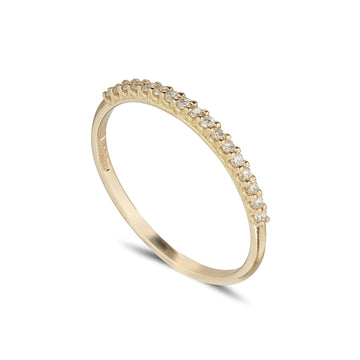 18ct yellow gold narrow cathedral set eternity ring