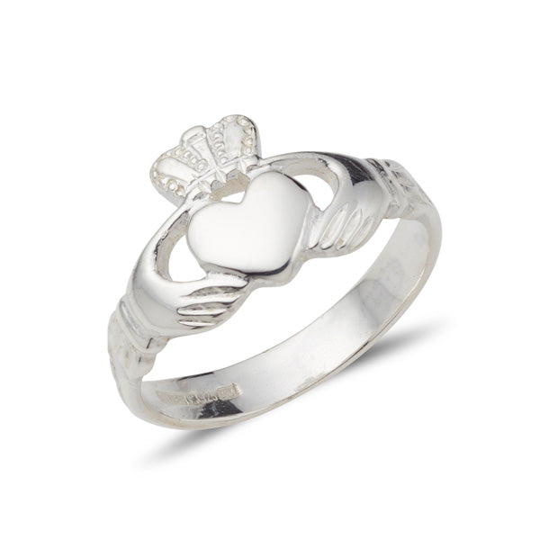 sterling silver ladies claddagh ring classic simple style