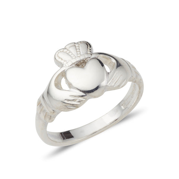 sterling silver small ladies classic claddagh ring
