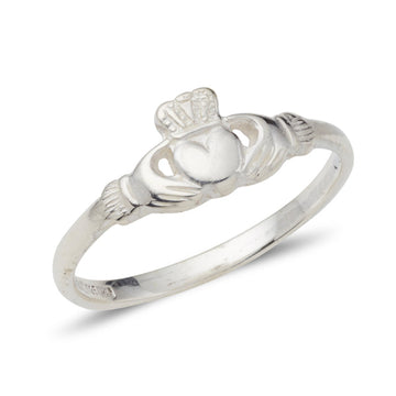 platinum danity ladies claddagh ring
