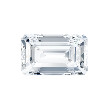 this picture shows an emerald cut diamond from the top table