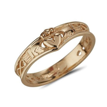 Claddagh ring in Gold Wishbone