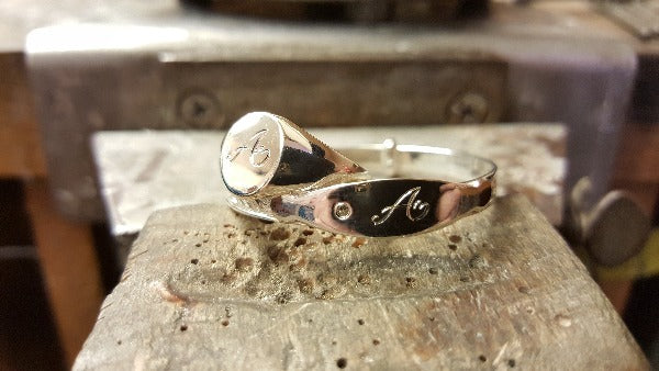 engraving sample on 2 rings