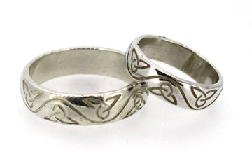 Wedding Ring set in Sterling Silver Trinity Knot