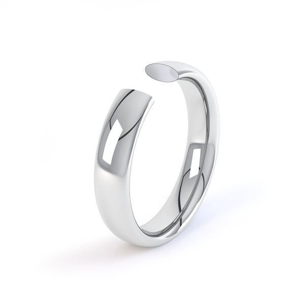 platinum 6mm classic court shaped wedding ring