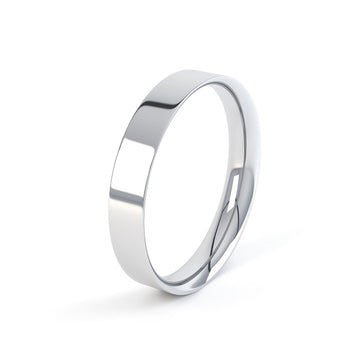 platinum 4mm classic easy fit profile wedding ring