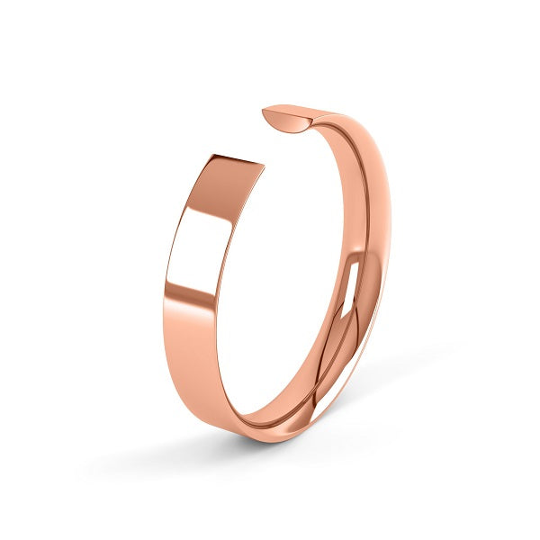 rose gold classic 2.5mm easy fit wedding ring