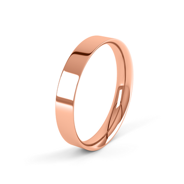 rose gold classic 4mm easy fit wedding ring