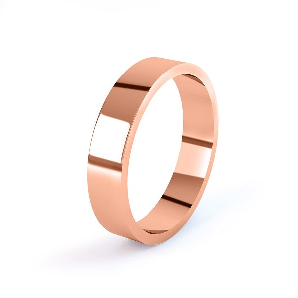 rose gold classic 3mm flat wedding ring
