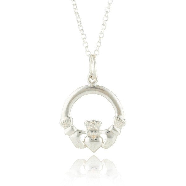 Claddagh Necklet Sterling Silver Small