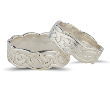 Sterling silver celtic deign matching his and hers rings, this ring is solid not pierced and comes either 6mm or 7mm