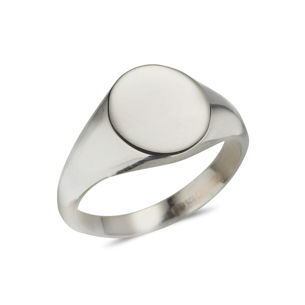 Sterling silver ladies signet ring