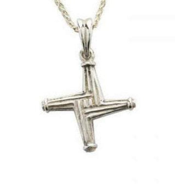 sterling silver st brigids cross and chain