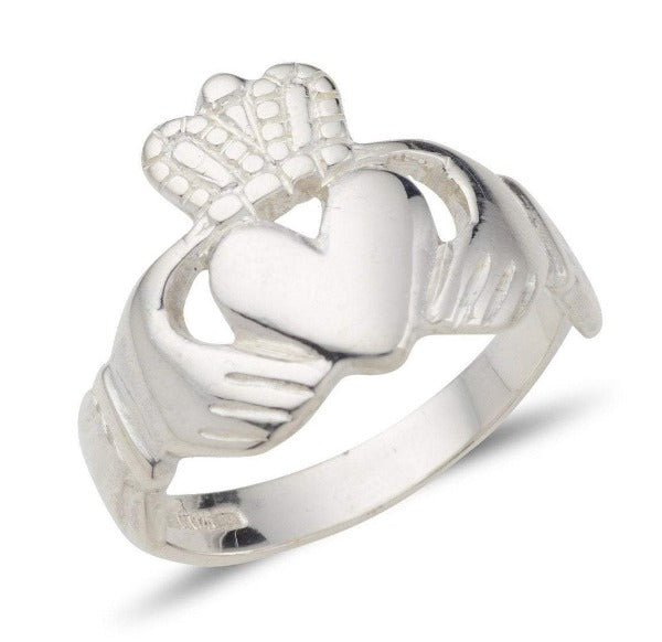 sterling silver unisex claddagh ring galway design