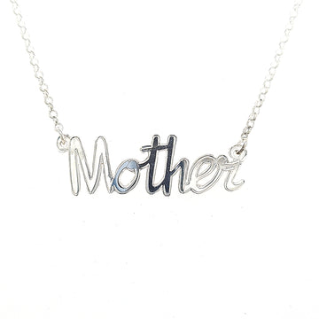 sterling silver personalised name pendant