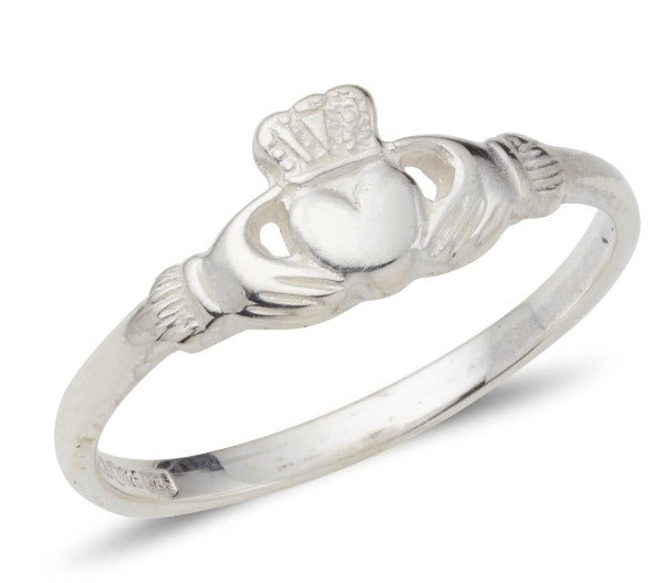 white gold delicate ladies claddagh ring classic simple