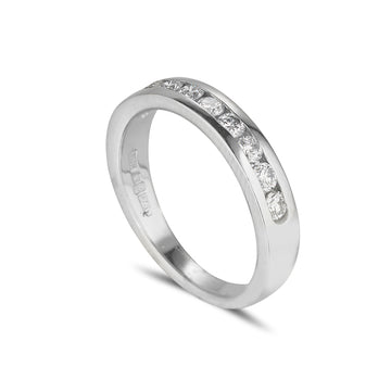 18ct white gold channel set diamond eternity ring