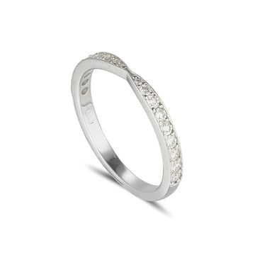 18ct white gold shaped diamond eternity ring