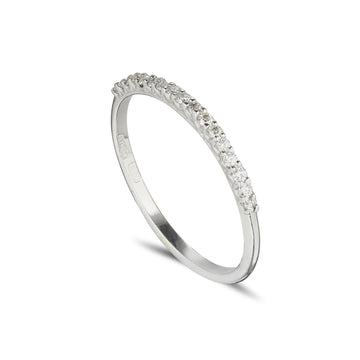 18ct white gold cathedral set diamond eternity ring
