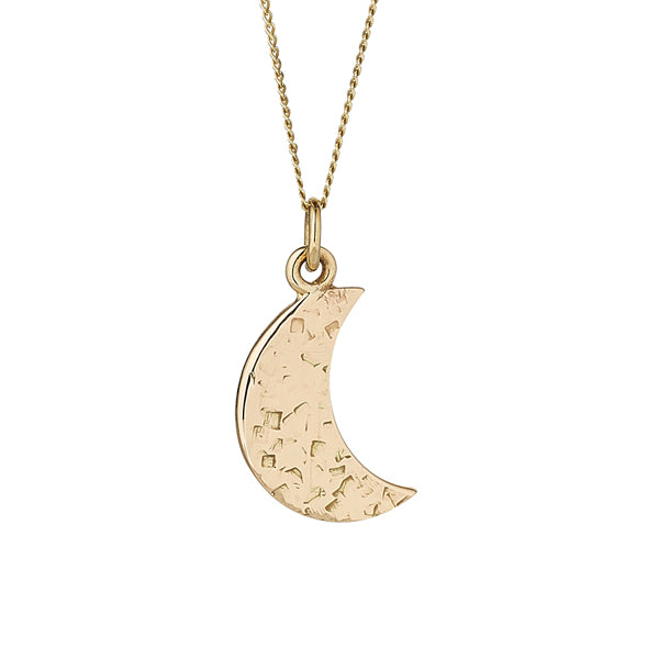 crescent moon pendant and chain