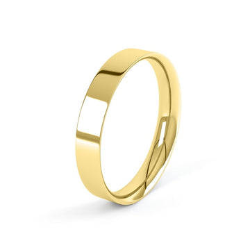 yellow gold 4mm easy fit profile wedding ring
