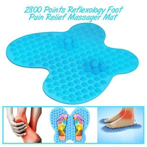 2800 Points Reflexology Foot Pain Relief Massager Mat