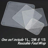 Multi-Functional SIlicone Reusable Food Wrap (4pcs)