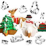Artistic - 3D Christmas Cookie Cutters (8pcs)